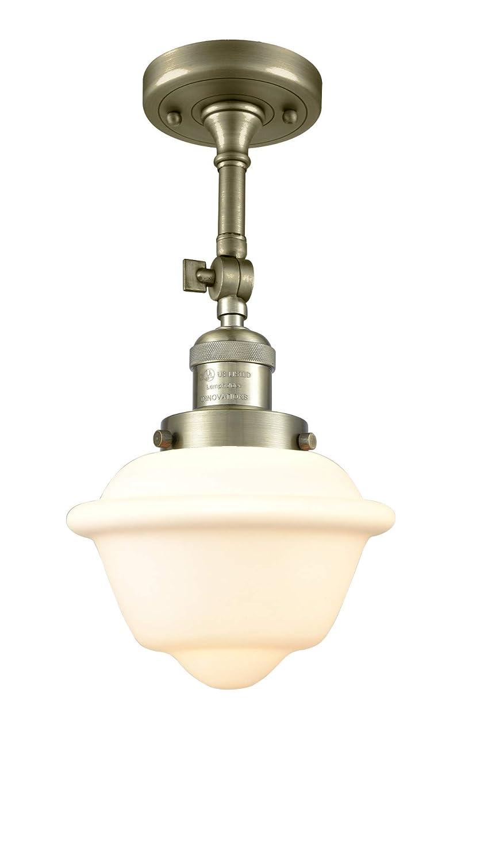 Innovations 201F-AB-G531 1 Light Semi-Flush Mount Antique Brass