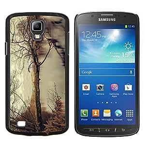 Árbol del otoño- Metal de aluminio y de plástico duro Caja del teléfono - Negro - Samsung i9295 Galaxy S4 Active / i537 (NOT S4)