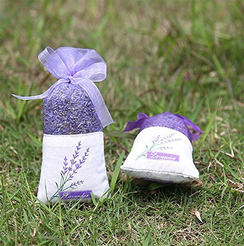 TooGet Lavender Sachet Bags, Organic Ultra Blue Lavender Buds for Home Fragrance, Natural Deodorizer, Moth Repellent and...