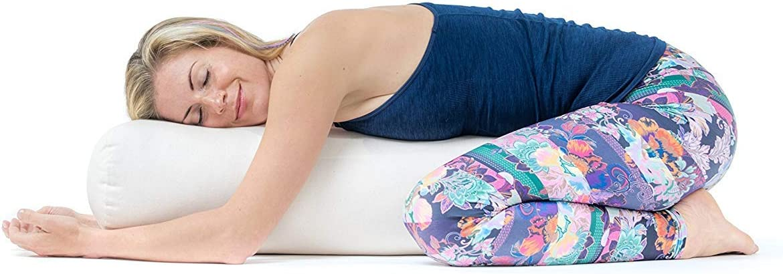 Certifi/é GOTS Coussin Yoga Rembourrage D/épeautre Lotuscrafts Bolster Yoga Rouleau pour Yin Yoga /Ø24 Housse en Coton Lavable Traversin Yoga Rouleau Yoga pour Restorative et Yin Yoga