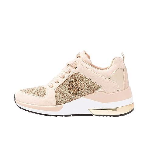 GUESS Zapatillas Deluxe de Mujer Beige Talla 39: Amazon.es: Zapatos y complementos
