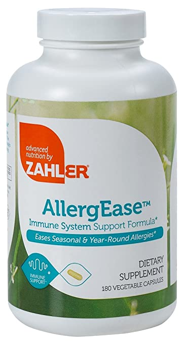 Zahler AllergEase, Advanced Formula for Allergy Relief, Helps Reduce Seasonal Discomfort and Histamine Control