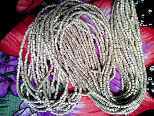 Hank TIN CAN Light Silver Matte 2 Cut Glass Beads 10/0! Beads for Jewelry Making, Supply for DIY Beading Projects