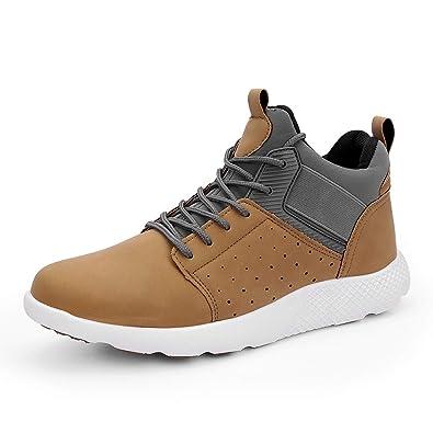 LYU LAM Men s Fashion Sneakers Comfortable Casual Sport Walking Shoes  Lightweight Slip-On Chukka Boots 3c53bec0705