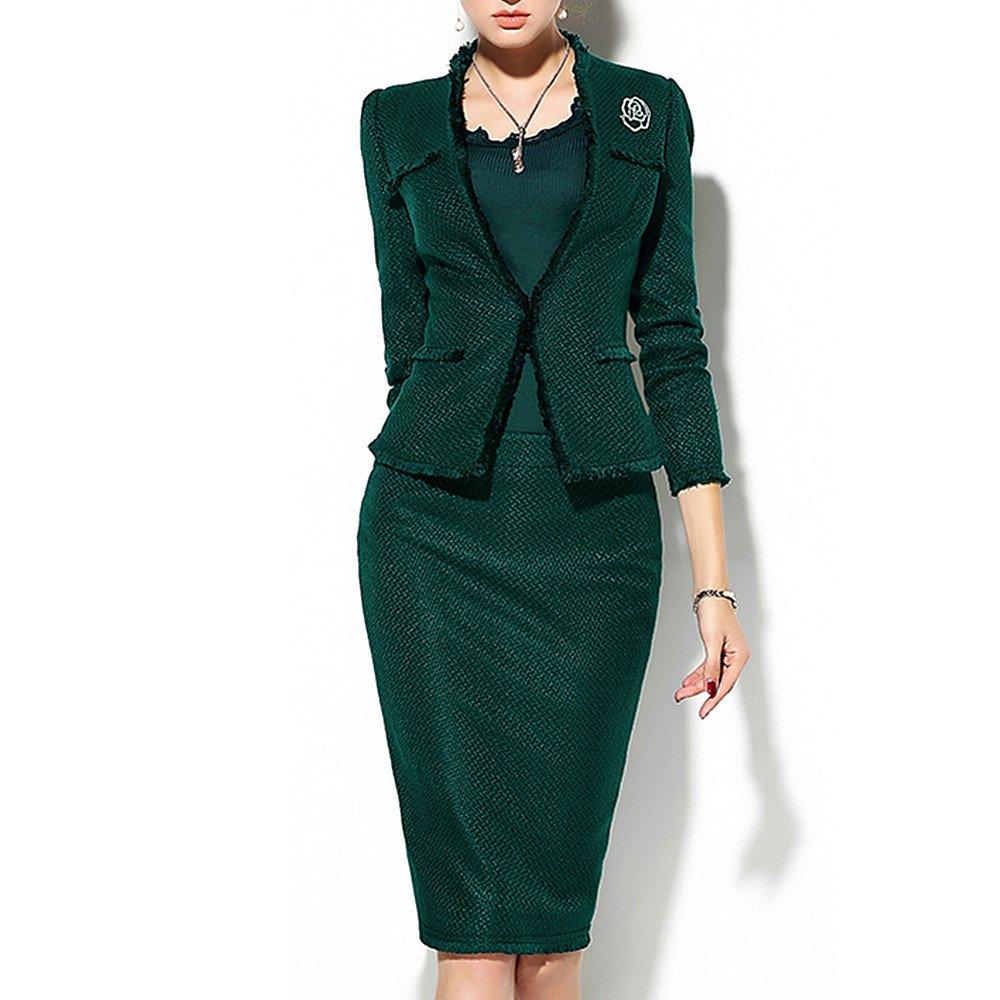 QJH Women's 2-Pieces Elegant Career Dress Suit Set by QJH