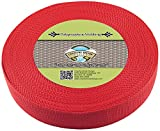 Country Brook Design 1 1/2 Inch Red Heavy Polypro Webbing, 25 Yards