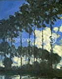 Claude Monet Art Poster Poplars on the Bank of the Epte