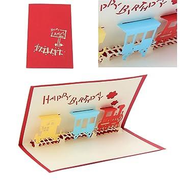 Cuigu 3d Pop Up Paper Cut Blanko Grusskarte Handgefertigt Postkarte