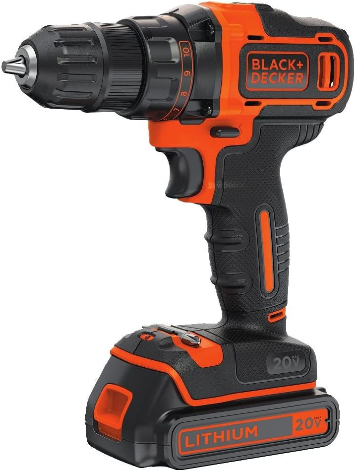 BLACK DECKER 20V MAX Cordless Drill Driver Variable Speed BDCDD220C
