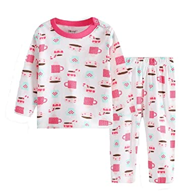 99ee2fd9e Amazon.com  Hooyi 2018 Baby Girl Cup Clothes At Home Infant Pajamas ...