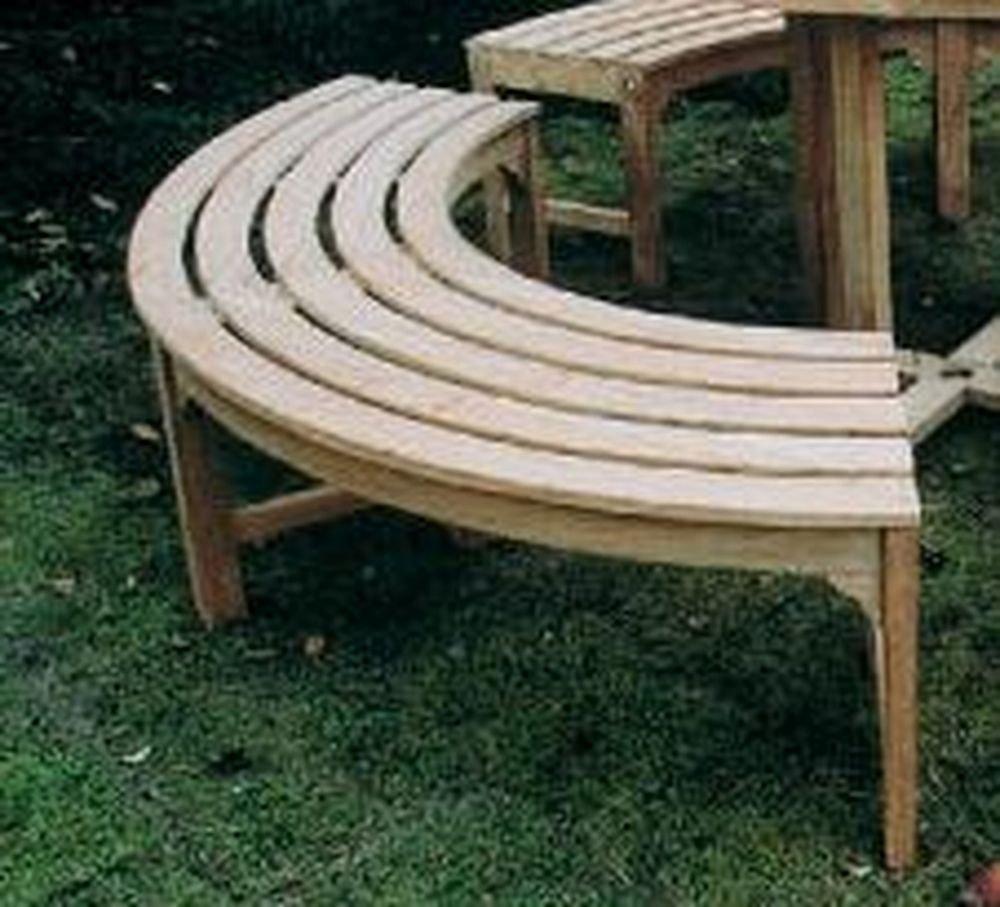 ジャービス商事 天然木無垢材 ガーデンベンチ ラウンドベンチ2型(1台1/3円形分) 36708 B009LEYVEM