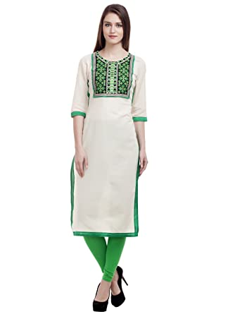 Reliance Fashions Cotton Embroidered Kurta For Women Stylish