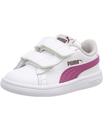 Chaussures Enfant Puma Smash Fun L Blanches et bleues Taille