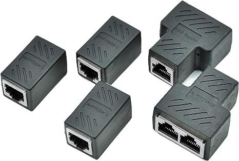 1 to 3 Sockel LAN Ethernet Netzwerk RJ45 Splitter Extender Adapter Verbinder
