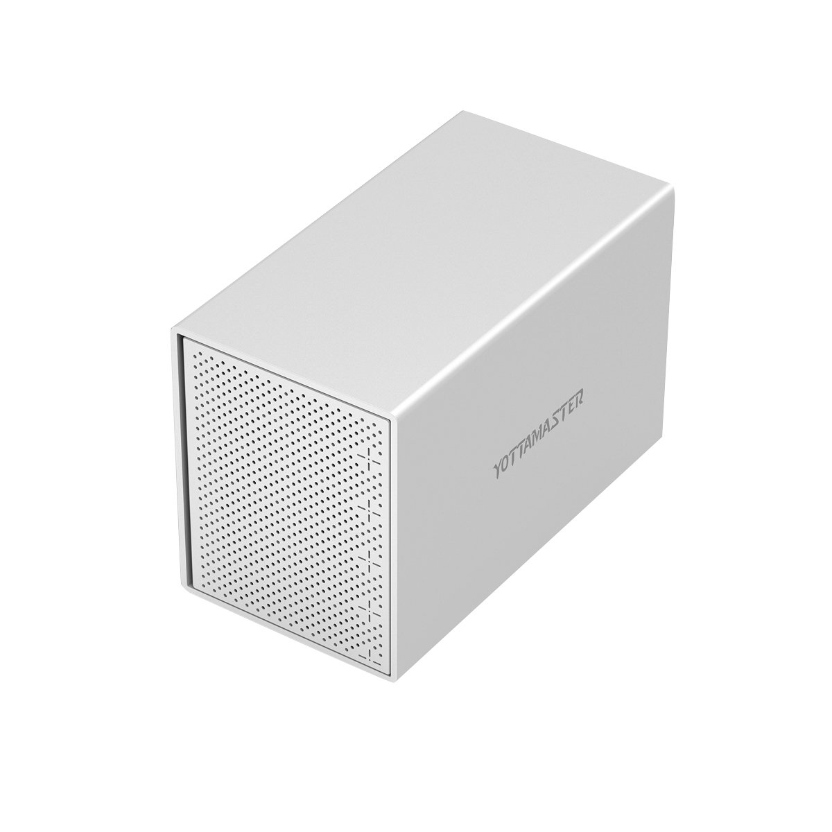 Yottamaster Aluminum Alloy 5 Bay USB3.0 3.5'' Hard Drive Enclosure for 3.5 Inch SATA HDD Support 5 x 10TB & UASP -Silver by Yottamaster