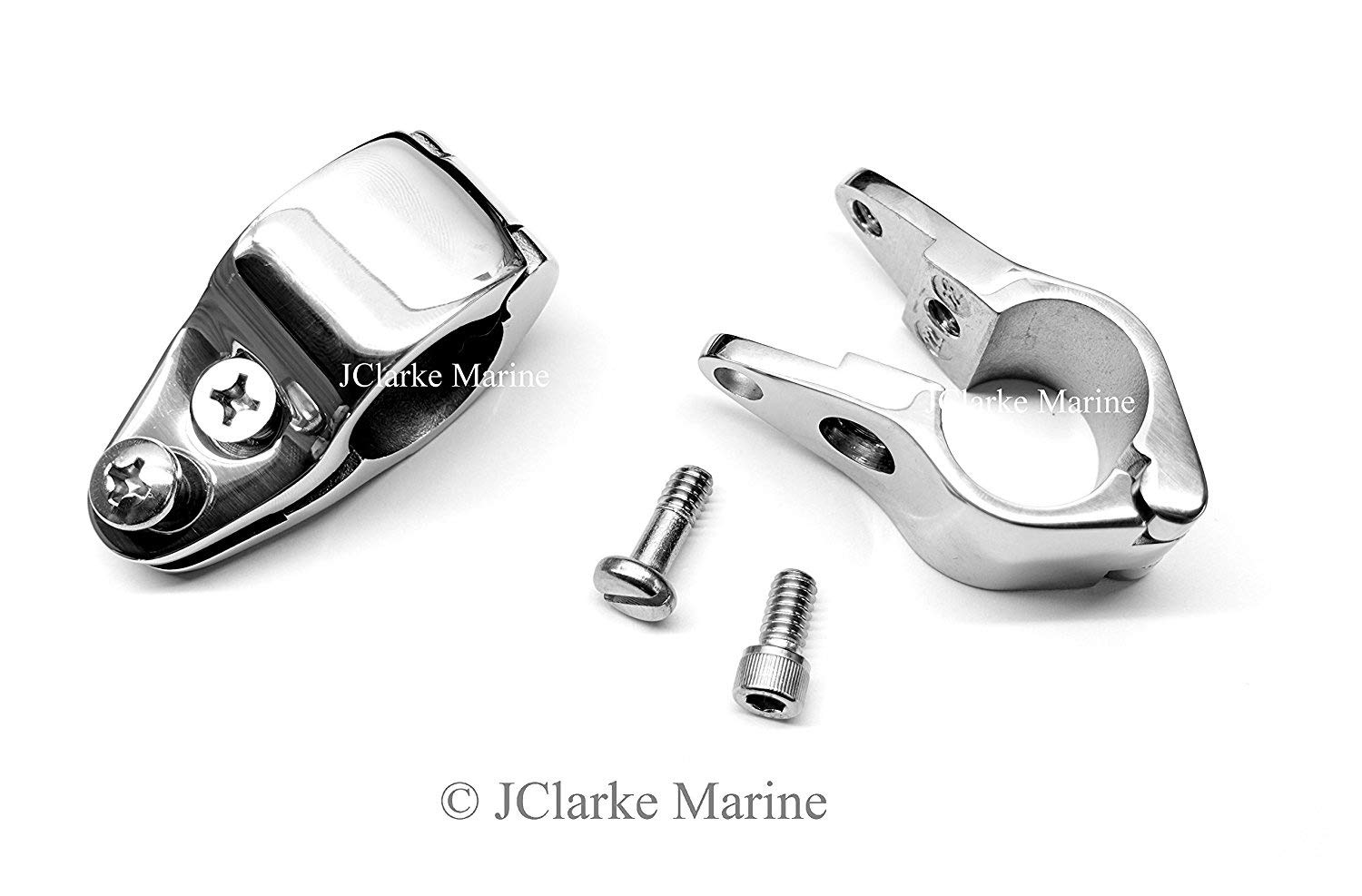 Pack of 1 - 1 (25mm) Adjustable Slide clamp heavy duty for bimini boat cover frame fitting stainless steel JClarke Marine