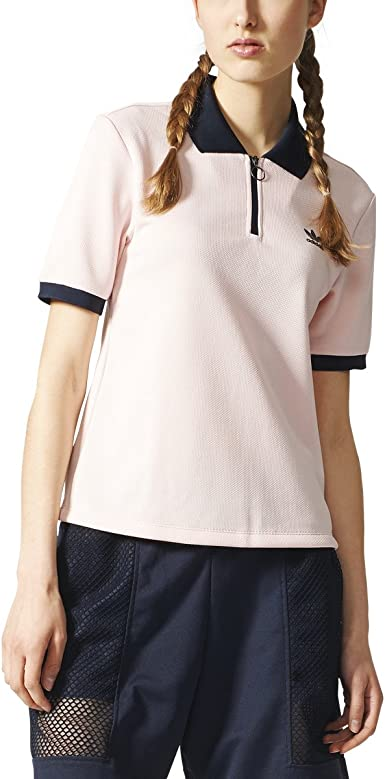 voluntario Gastos de envío Cuña  adidas Originals Women's Polo Osaka T-Shirt Icey Pink bq5740 at Amazon  Women's Clothing store