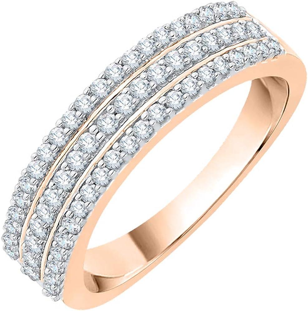 1//10 cttw, Diamond Wedding Band in 10K White Gold Size-3 G-H,I2-I3