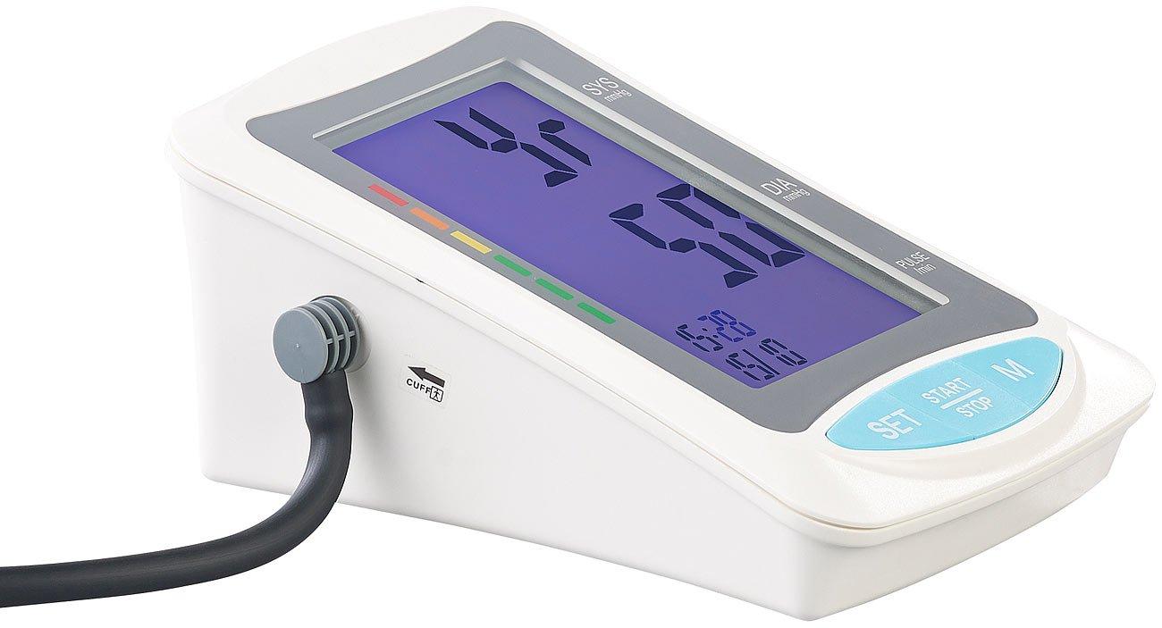 Tensiómetro de brazo, XXL de pantalla, salida de voz, memoria (brazo esfigmomanómetro): Amazon.es: Salud y cuidado personal