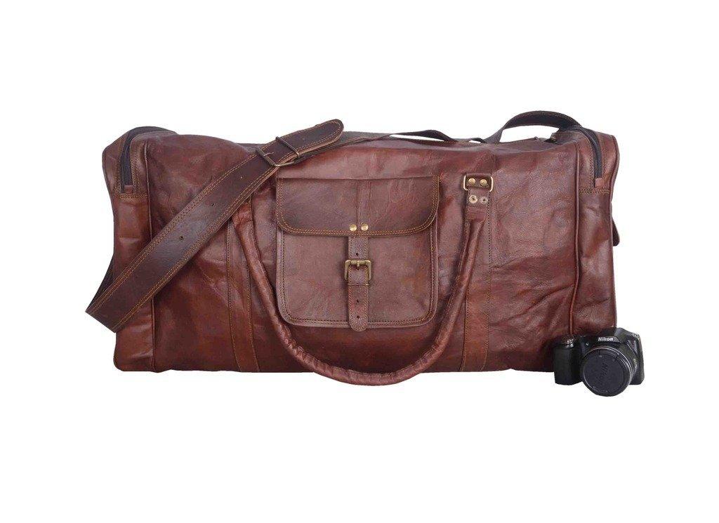 Vintage Leather Bazaar Duffle Bag Leather Gym Bag Leather Travel Bag Leather Luggage Leather Weekender Bag 28 Inch