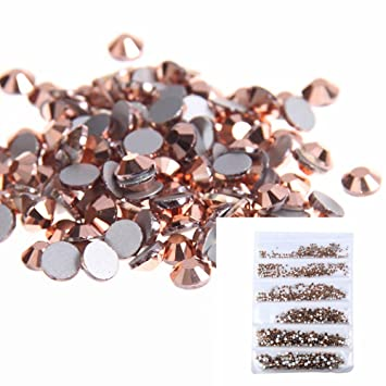 Amazoncom Nizi Jewelry Nail Rhinestones 1680pcs Rose Gold color