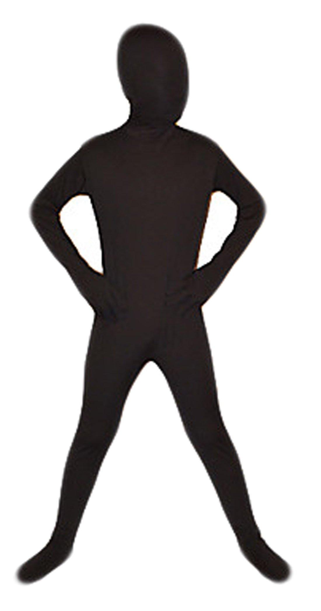 Seeksmile Kids Costume Full Body Lycra Zentai Suit (Large, Black)