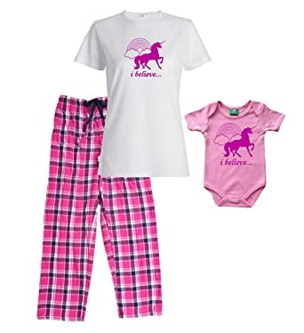 Footsteps Clothing Unicorn White Shirt Shirt Pant Pajamas Set - Adult  Small 0e2f64cce