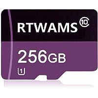 RTWAMS Micro SD-kaart 256GB Class 10 Micro SDXC Card TF-kaart C10 Memory Card met gratis SD-adapter voor Android…