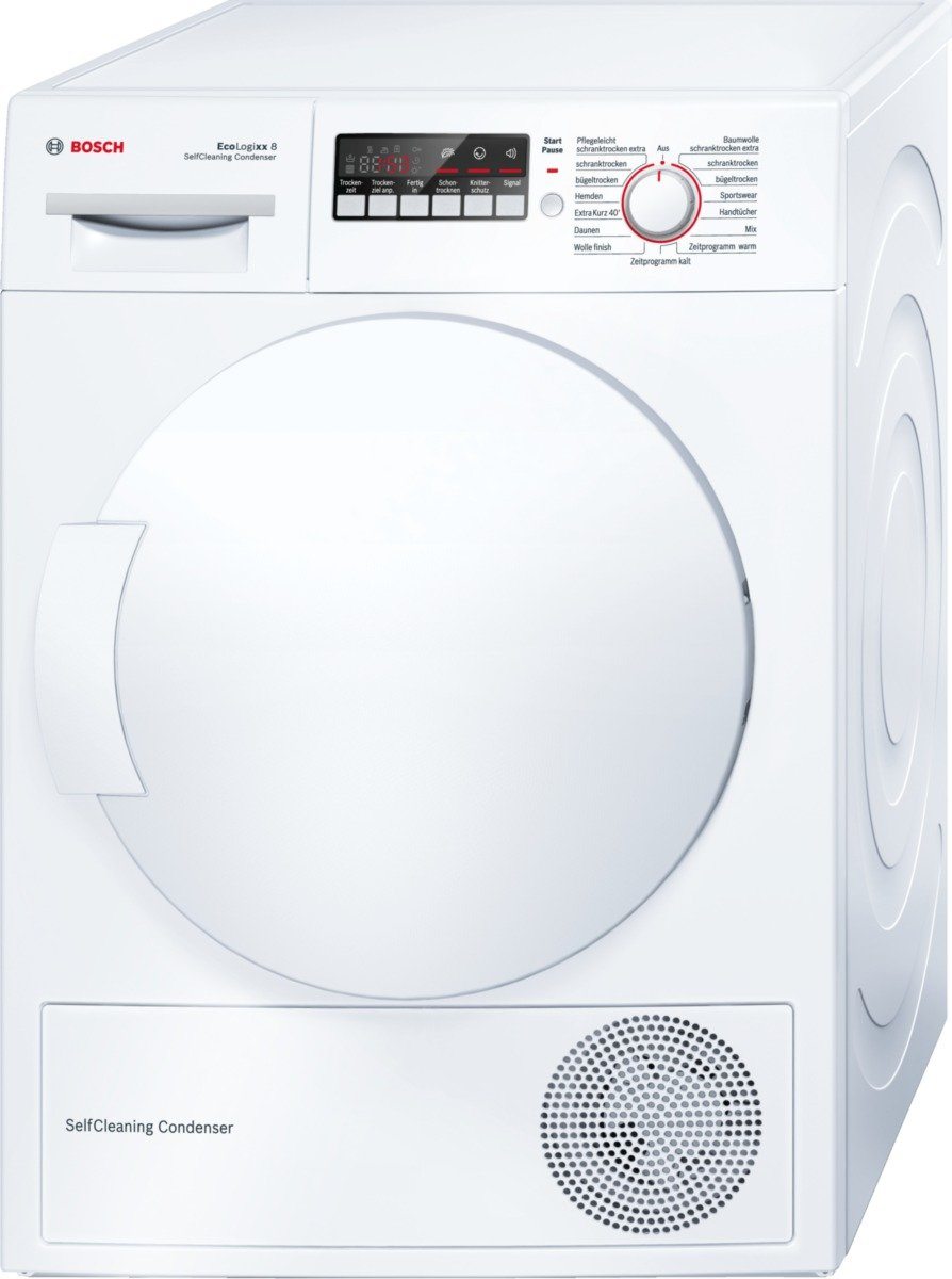 Bosch WTW84271 freestanding Front-load 8kg A++ White tumble dryer - tumble dryers (freestanding, Front-load, Condensation, A++, White, A)