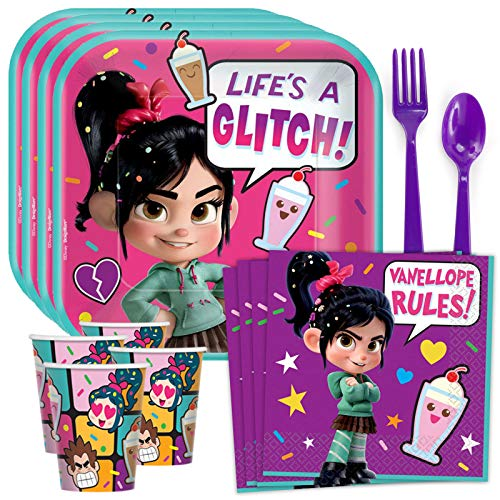 (Costume SuperCenter Wreck It Ralph 2 Standard Tableware Kit (Serves)
