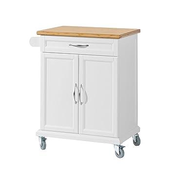 SoBuy FKW01 ® Küche Schrank Küche Rollwagen legen mit Bambus ...