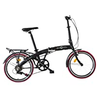 Ecosmo 20AF09BL Citybike / Fahrrad, 50,8cm, leicht, Legierung, klappbar, 12kg