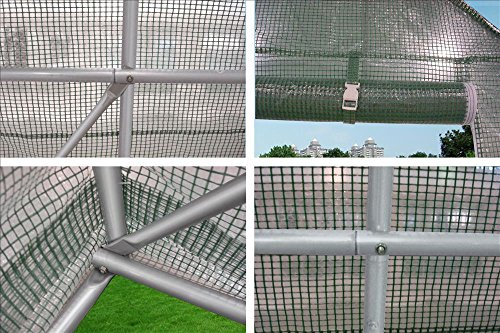 DELTA Canopies - Large Heavy Duty Green House Walk in Greenhouse Hothouse 20' X 10' 125 Pounds by DELTA Canopies  (Image #6)