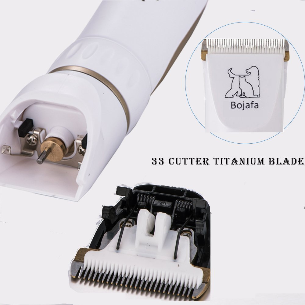 Bojafa Dog Grooming Clippers Low Noise Cordless Pet Grooming Clippers Tools Horse Cat Dog Hair Clippers Shaver Kit by Bojafa (Image #7)