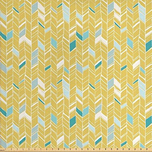 blue chevron upholstery fabric - 2