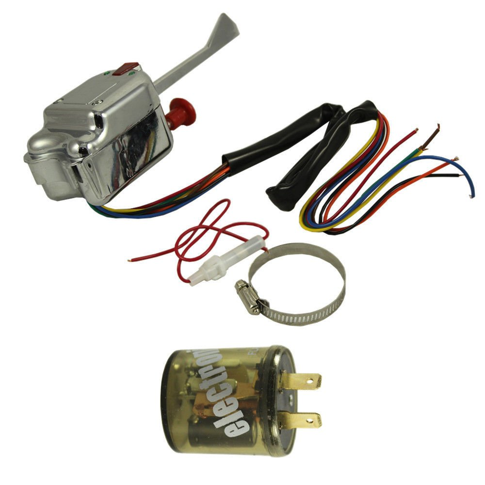 Perfectech Chrome 12v Universal Street Hot Rod Turn Grote Signal Switch Wiring Diagram 48272 For Ford Gm With Flasher Automotive