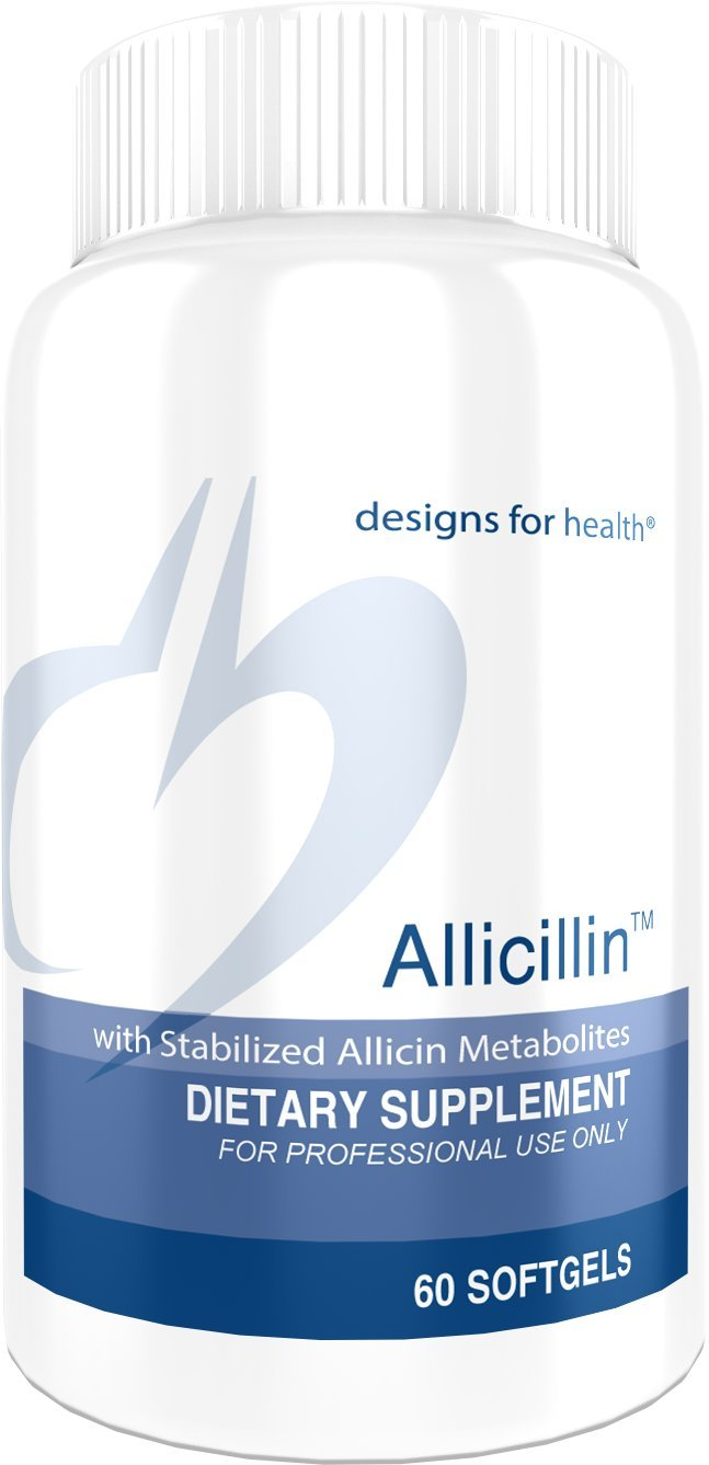 Designs for Health Allicillin - Allicin Supplement, 200mg Garlic Oil + Parsley Oil (60 Softgels)
