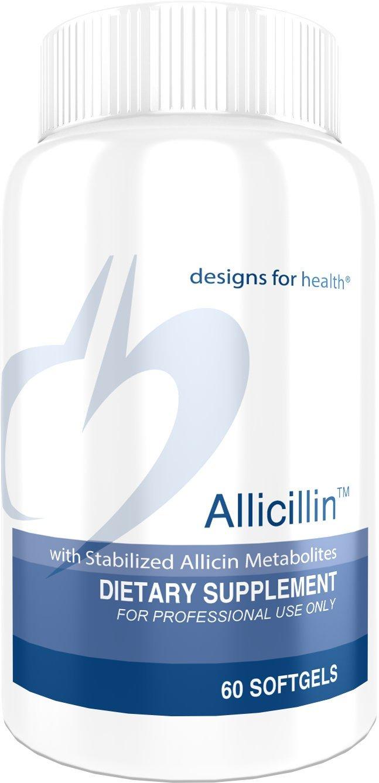 Designs for Health - Allicillin - Garlic + Parsley Oil - 200mg, 60 Softgels