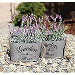 Heart-To-HeartButterfly-Craze-Purple-Silk-Floral-Arrangements-Faux-Lavender-Flower-Plant-Home-Office-Dcor-2-Pc-Set-with-Grey-Vases