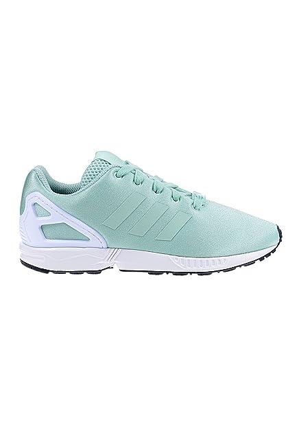 adidas zx flusso formatori ragazzi giovani verde blu bianco moda sport