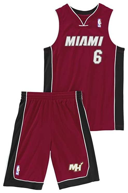 adidas Performance Miami Heat NBA LeBron James niños del baloncesto de Jersey Rojo X22275 , Size