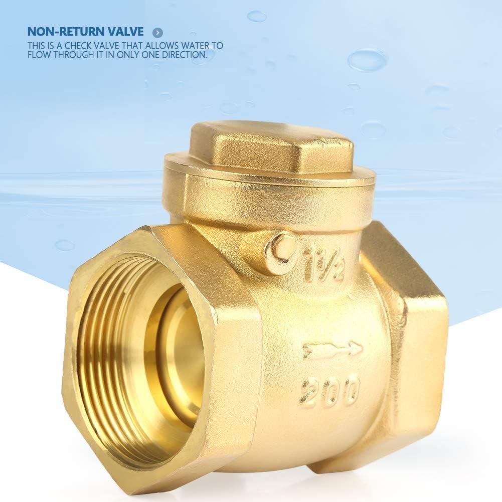 DN50 Female Thread Brass Non-Return Swing Check Valve 232PSI Prevent Water Backflow Check Valve Pressure 232PSI