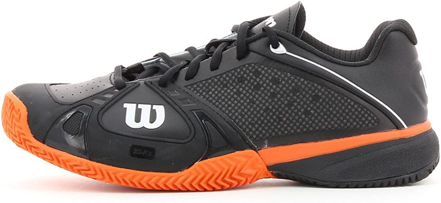 Wilson - Zapatillas pádel m rush pro clay, talla 46, color negro ...