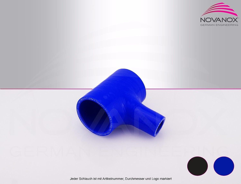 Gr/ö/ße w/ählbar Farbe:Schwarz T-St/ück Silikon Innendurchmesser:/Ø 64 mm Silikonschlauch K/ühlwasserschlauch Turbo Hose Universal Schlauch