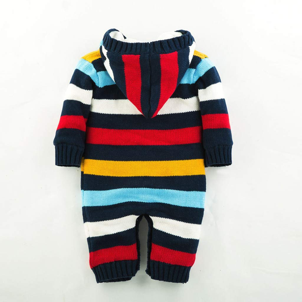 SINGOing Baby Winter Fleece Overall mit Kapuze Schneeanz/üge M/ädchen Jungen Weiches Strick Strampler,Spielanzug Footed Jumpsuit