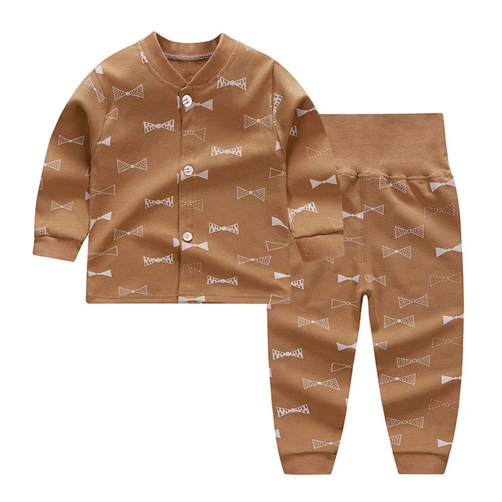 ModeC 100% Organic Cotton Baby Boys Girls Pajamas Set Long Sleeve Sleepwear(3M-6T) AL042