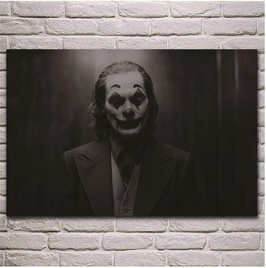 ASLKUYT Joaquin Phoenix Joker Film Fantasie Kunstwerk Leinwand Poster Wohnzimmer Hause Wand dekorative leinwand Kunst painting-50x70cm No Frame
