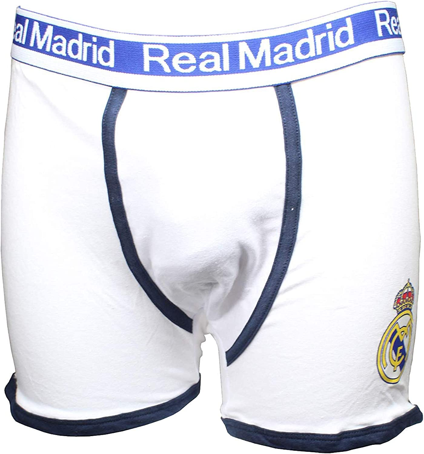 Real Madrid FC Boys Boxers White White Blue