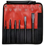Mayhew 61406 6 -Piece Hardened Steel Punch & Chisel Set