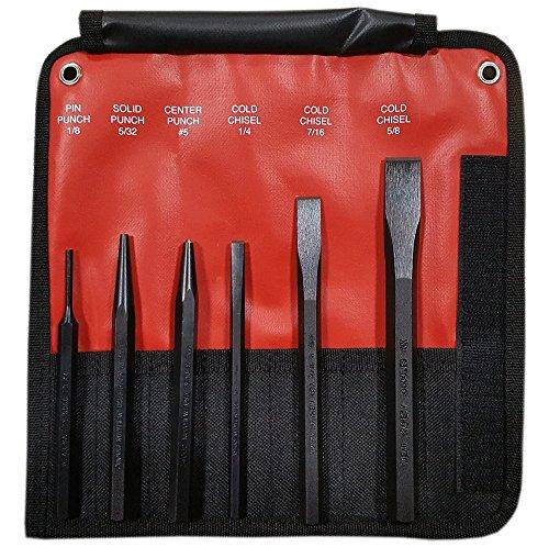 UPC 045256614069, Mayhew 61406 6 -Piece Hardened Steel Punch & Chisel Set